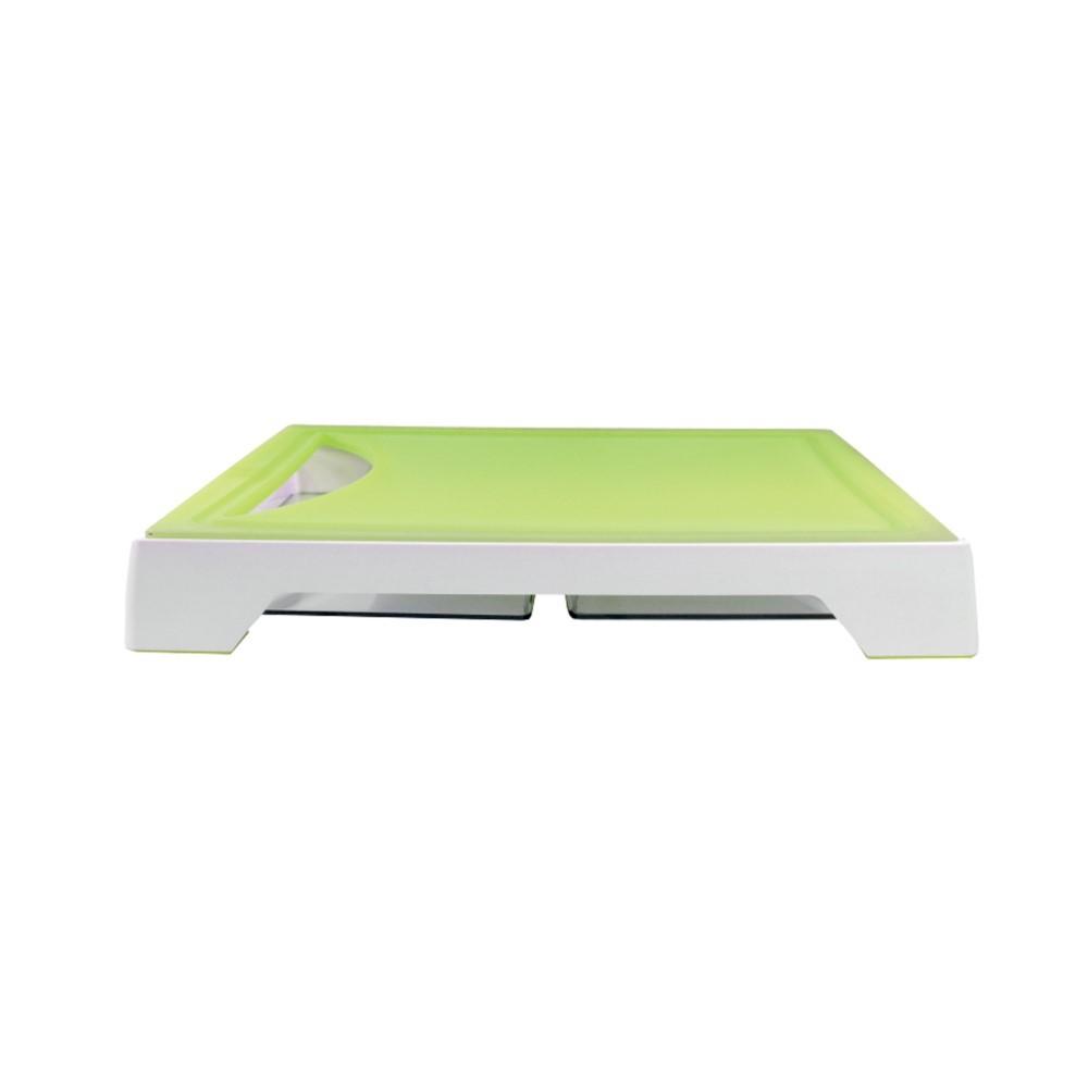 Tábua Para Corte Com 2 Bandejas Coletoras Verde Ref:gx0299 - Marcamix