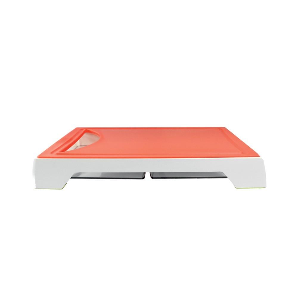 Tábua Para Corte Com 2 Bandejas Coletoras Vermelho Ref:gx0298 - Marcamix