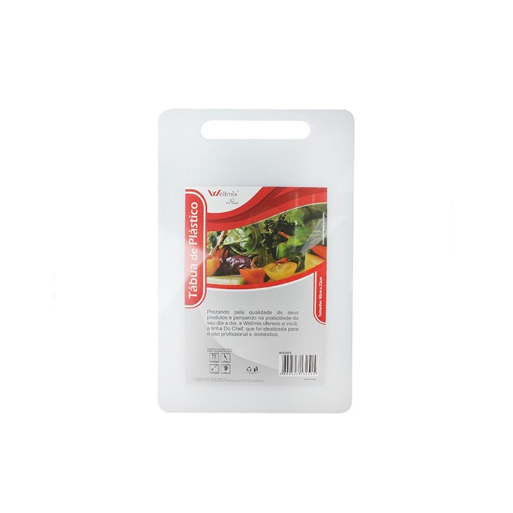 Tabua Plástico Retangular Branca 40x25cm Ref:wx7863 - Wellmix