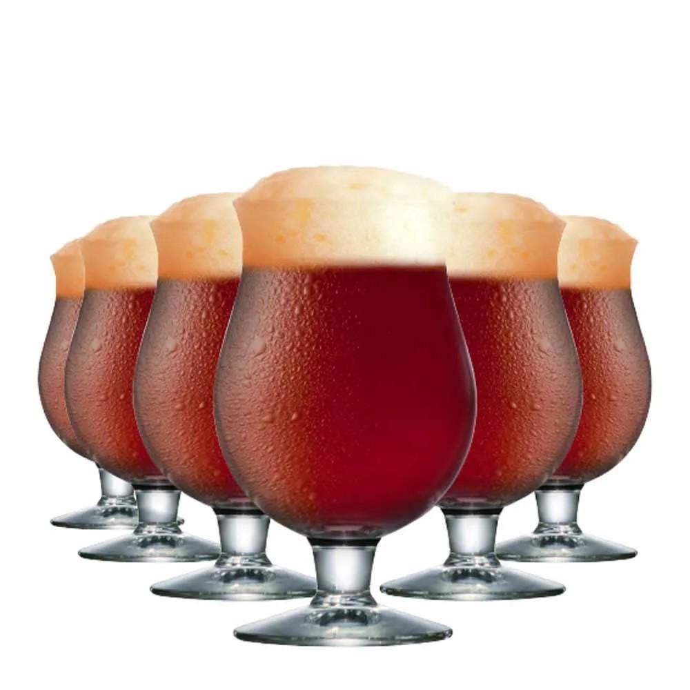 Taça Cerveja Belgian 630ml Em Vidro Ref:80350 - Ruvolo