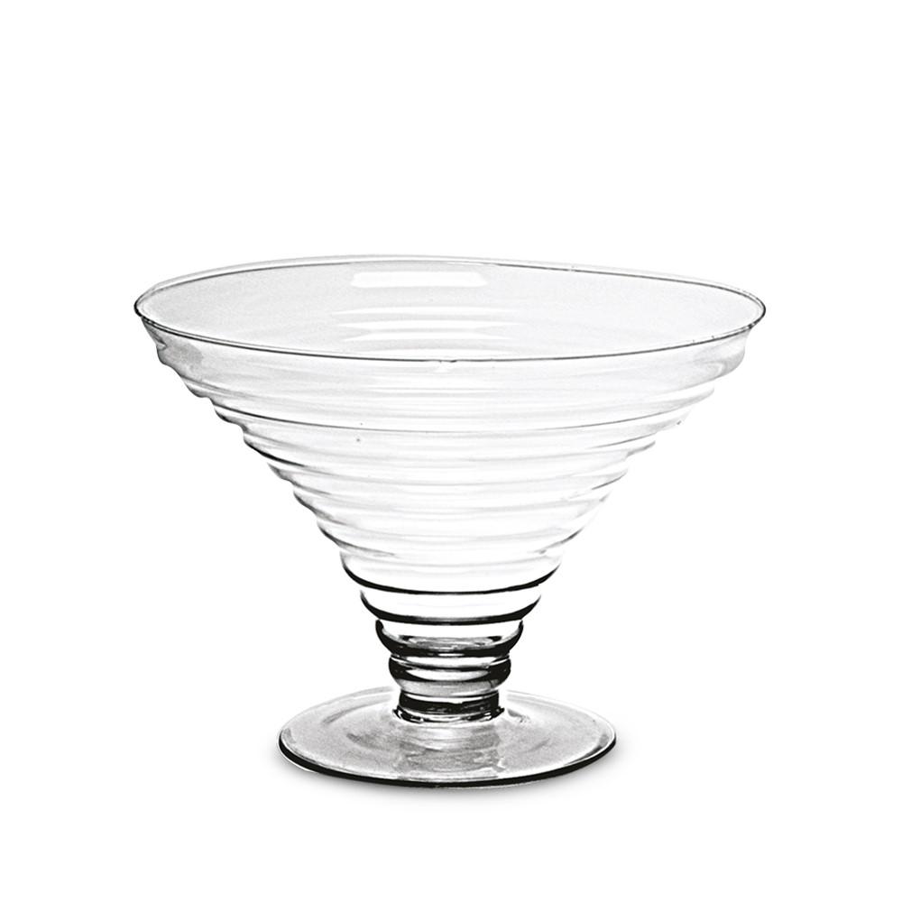 Taça De Vidro Decorativa Versalhes Baixa 18x28cm Ref:30880 - Vitazza