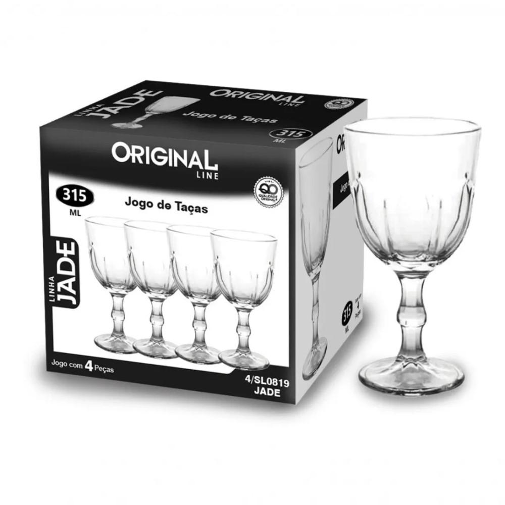 Taça De Vidro Para Vinho 315ml Linha Jade Ref:sl0819 - Original Line