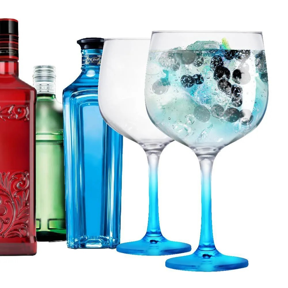 Taça Gin Tonica Gambo Azul For You 650ml Ref:80599 - Ruvolo