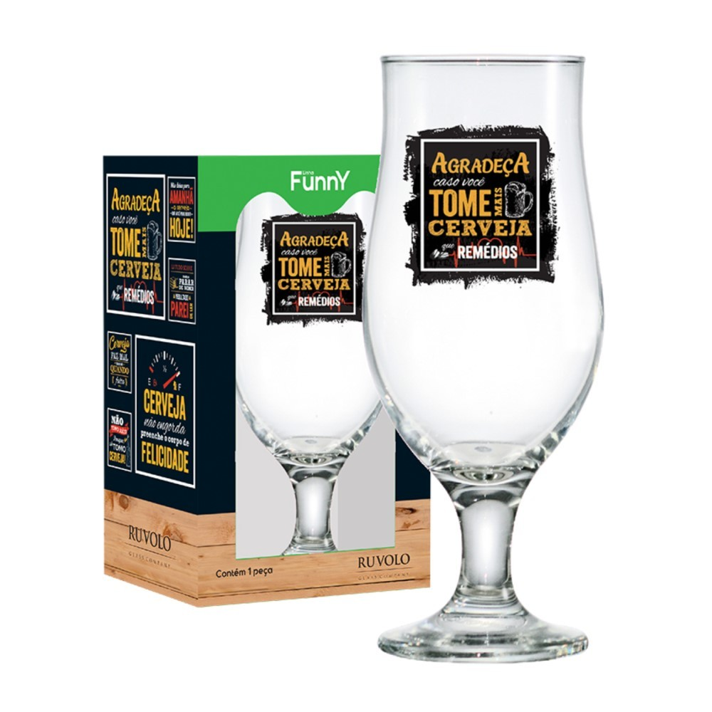 Taça Royal Beer For You Frases 330ml Ref:610180585 - Ruvolo