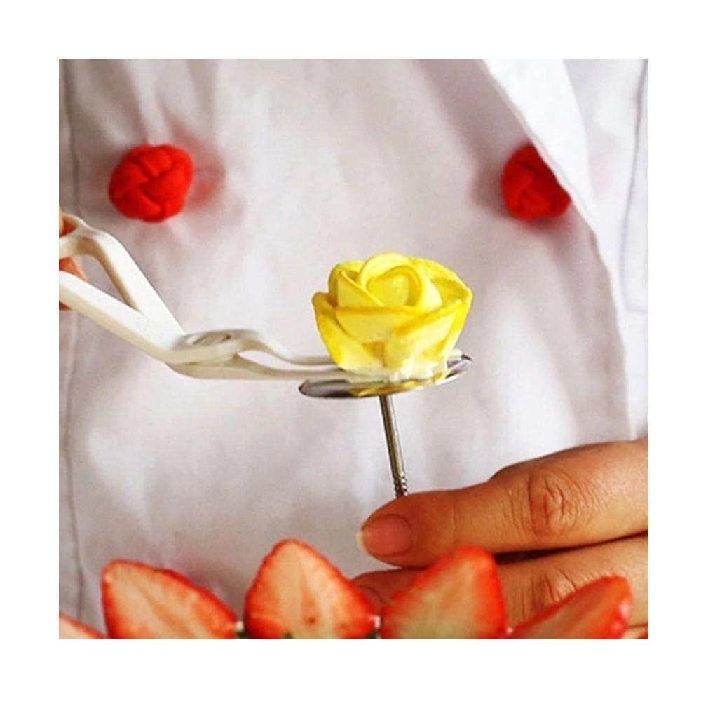 Tesoura Para Flores Confeitaria Ref:te-320 - Konfektt