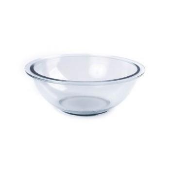 Tigela De Vidro 2,2 Litros Com Tampa Plástica Linha Round Ref:3170 - Vitazza