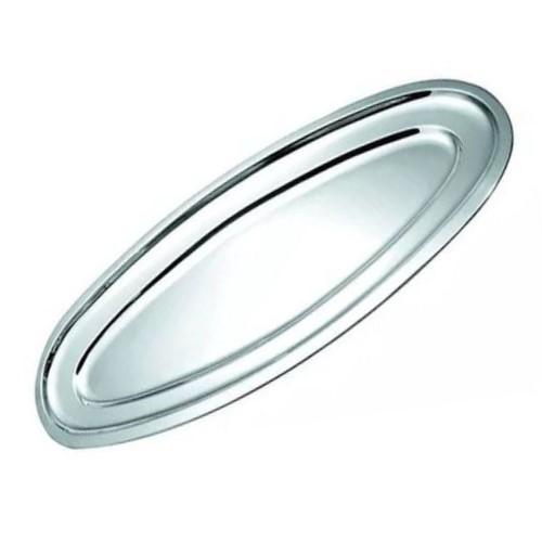 Travessa Inox Rasa Oval 60cm Peixeira Linha Classic Ref:ud278 - 123 Util