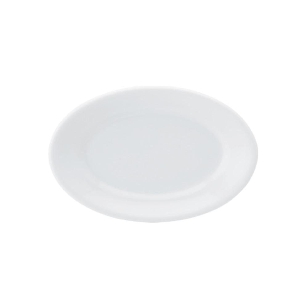 Travessa Rasa Em Porcelana 23cm Convencional Branca Ref:022.004.023 - Schmidt