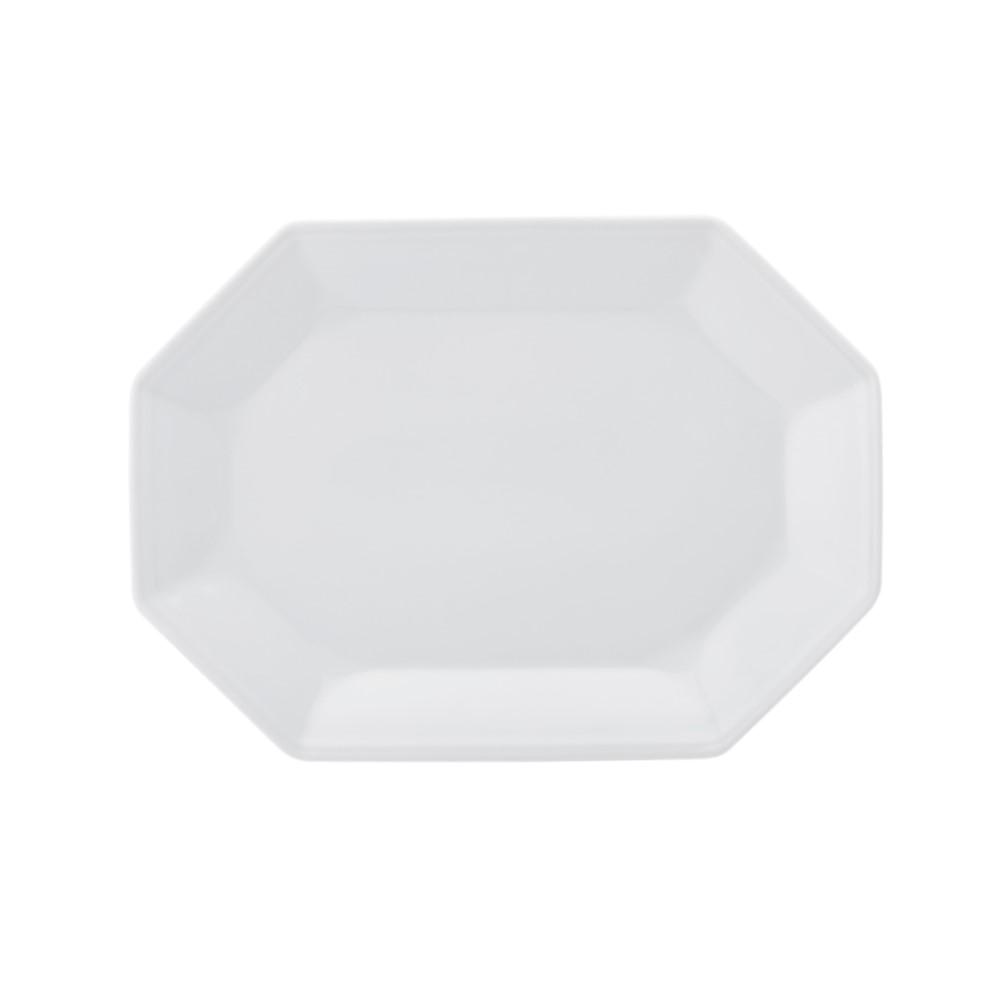 Travessa Rasa Em Porcelana 36cm Prisma Branca Ref:077.004.036 - Schmidt
