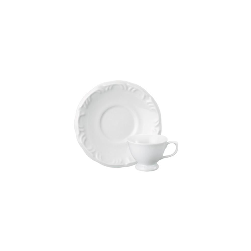 Xícara Café Em Porcelana 80ml Com Pé Com Pires Pomerode Branca Ref:114.004.008 - Schmidt