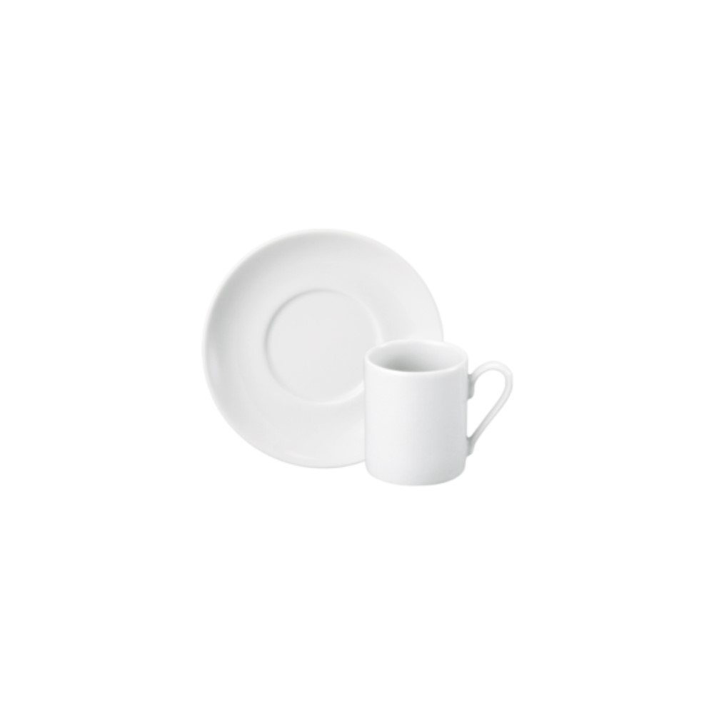 Xícara Café Em Porcelana 80ml Com Pires Brasilia Branca Ref:228.004.008 - Schmidt