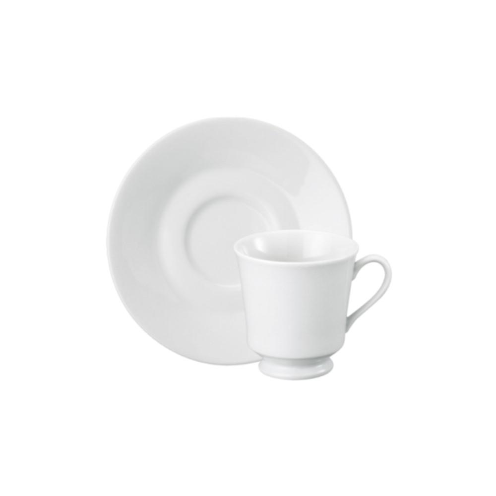 Xícara Chá Em Porcelana 220ml Com Pé Com Pires Itamaraty Branca Ref:292.004.022 - Schmidt