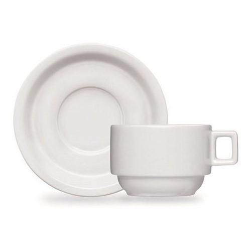 Xícara De Café Com Pires Em Porcelana 70ml Linha Atenas Ref:653-7 - Bot-art