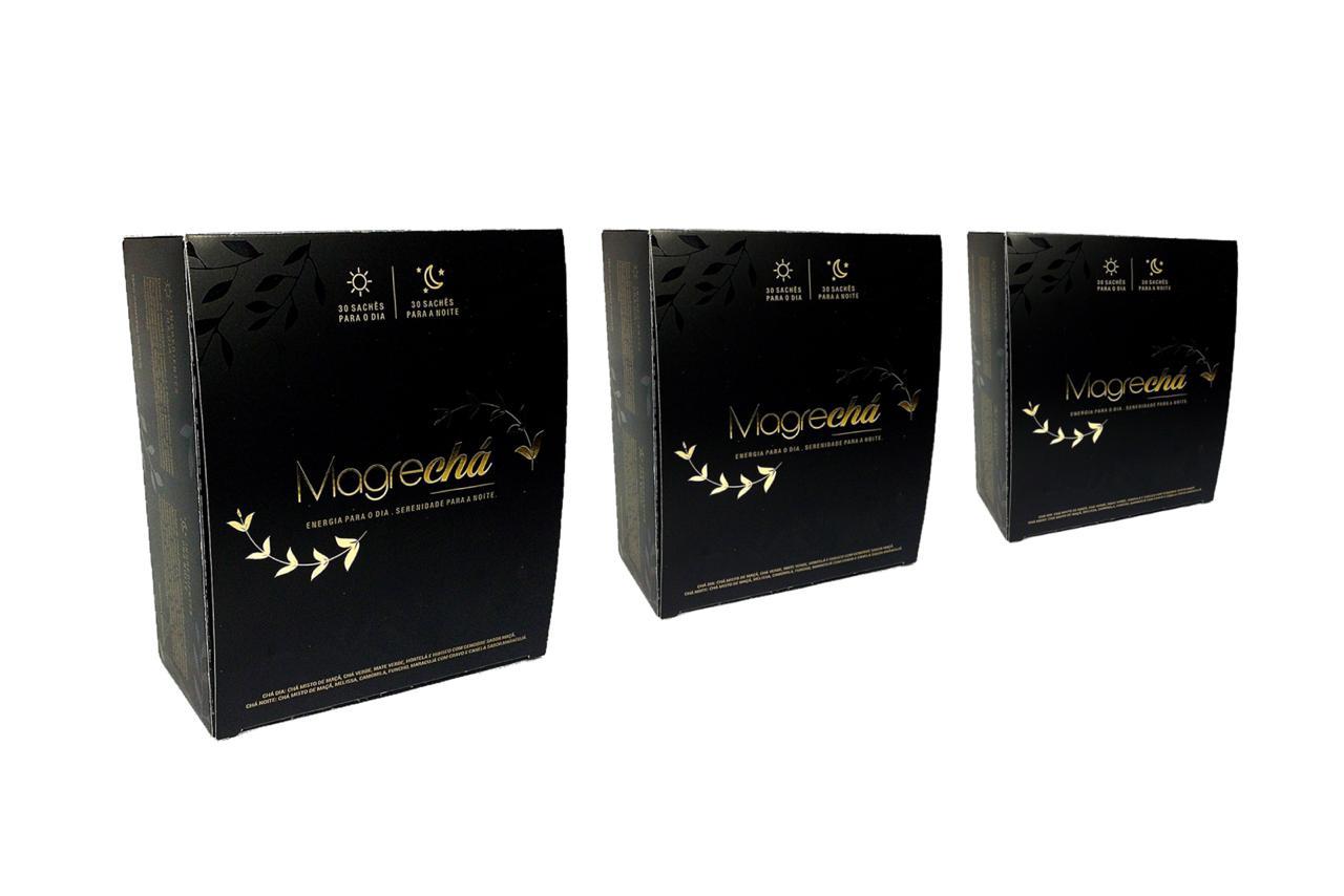 Combo 03 Unid. - Super Magrechá Sachês - Chá Emagrecedor Ekobé