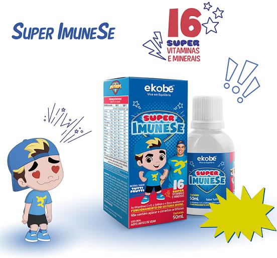 Super Imunese / Luccas Neto / 16 Vitaminas E Minerais- Ekobé 50ml