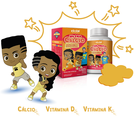 Ultra Cálcio / Luccas Neto / Cápsulas Mastigáveis / Ekobé 90