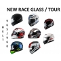 Viseira Cristal Capacete Helt 965 New Race Glass / 968 Tour Anti Risco 2mm Original