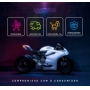 Viseira Cristal Capacete Helt 967 New Race Anti Risco 2mm Original