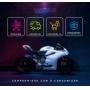 Viseira Espelhada Capacete Helt 967 New Race Anti Risco 2mm Original