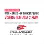 Viseira Fumê Capacete Helt 993 Race / MT Thunder-Blade Anti Risco 2.2mm Polivisor