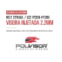 Viseira Fumê Capacete Helt Strada / LS2 FF358-FF396 Anti Risco 2.2mm Polivisor