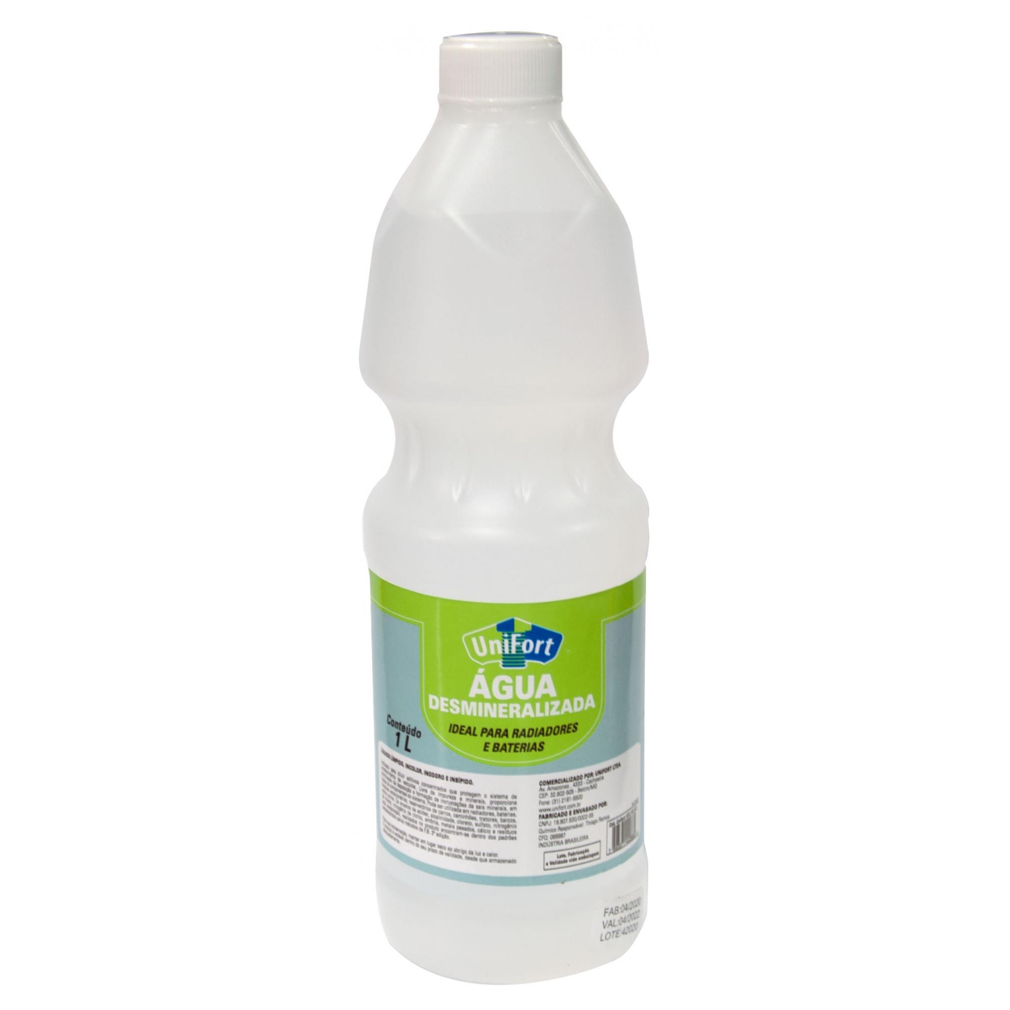 Água Desmineralizada Para Radiadores E Baterias 1 Litro Unifort