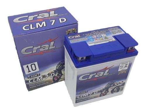 Bateria 12v 7ah Twister Cb 300 Falcon Fazer Titan 150es Cral