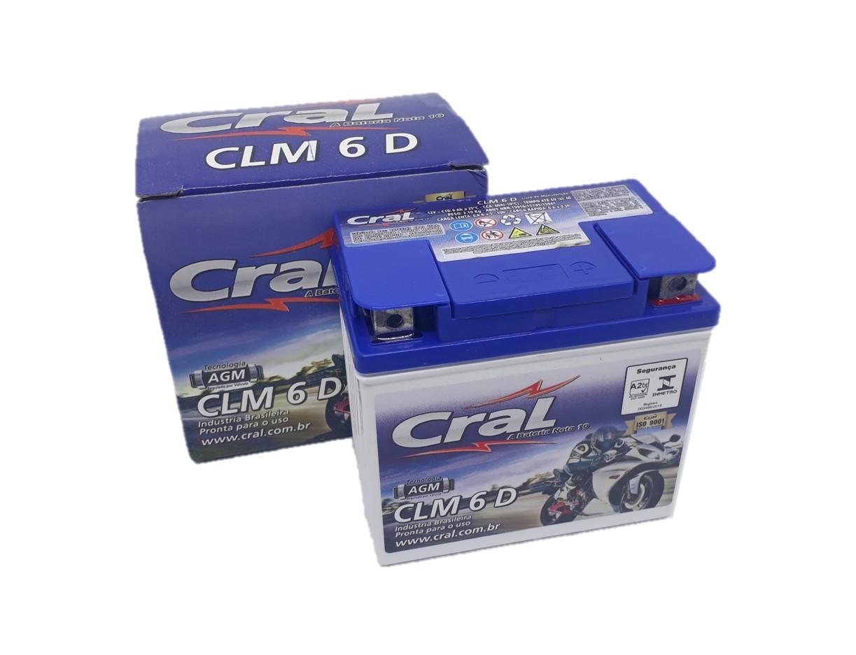 Bateria Biz 125 / Fan 125 / Fan 150 / Ybr 125 12v 6ah Cral