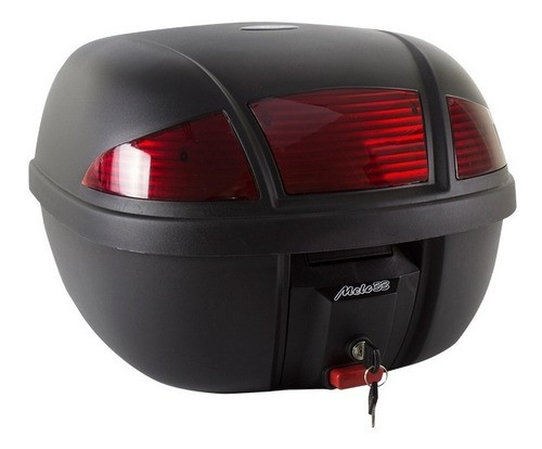 Bauleto Moto 33 Litros Lente Vermelha C/ Refletor Melc Preto