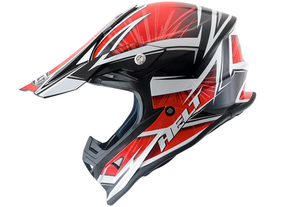 Capacete Helt 631 Motocross MX Rajado