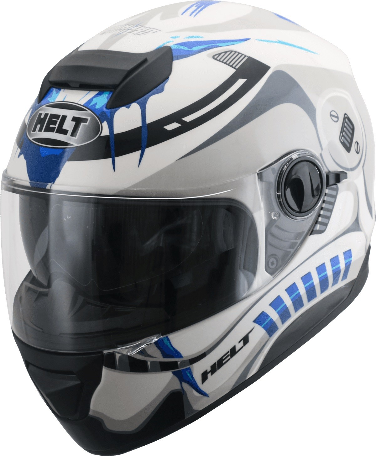 Capacete Helt 965 New Race Glass Storm C/ Óculos Interno Fumê