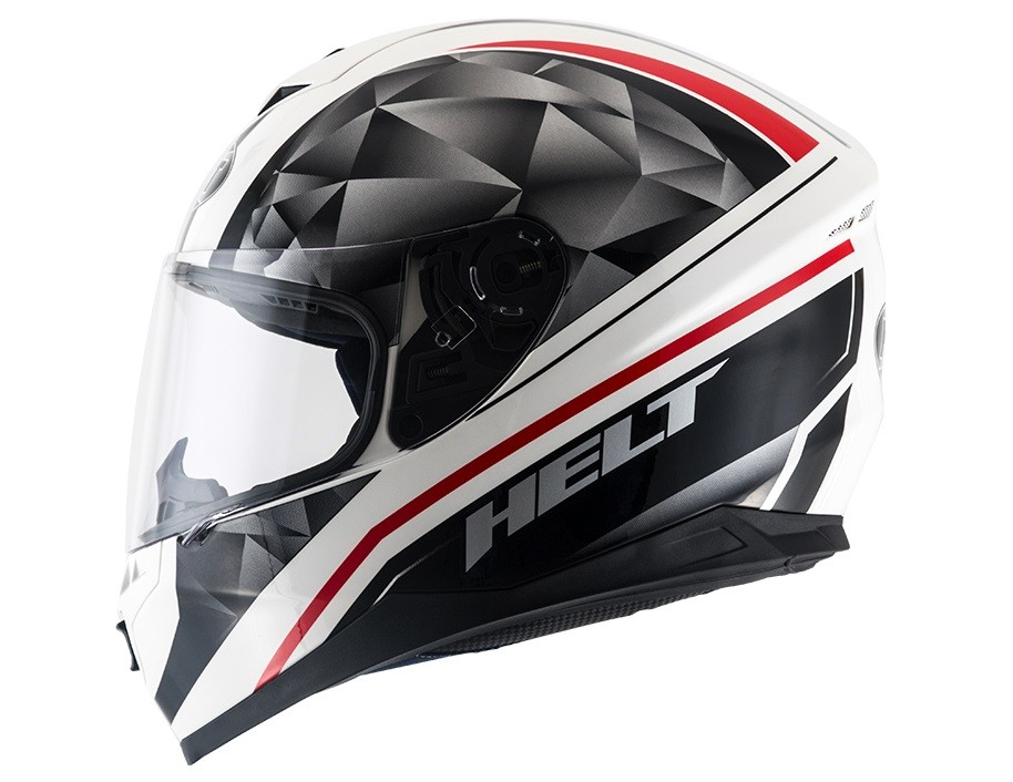 Capacete Helt 967 New Race Carbo Preto/Branco