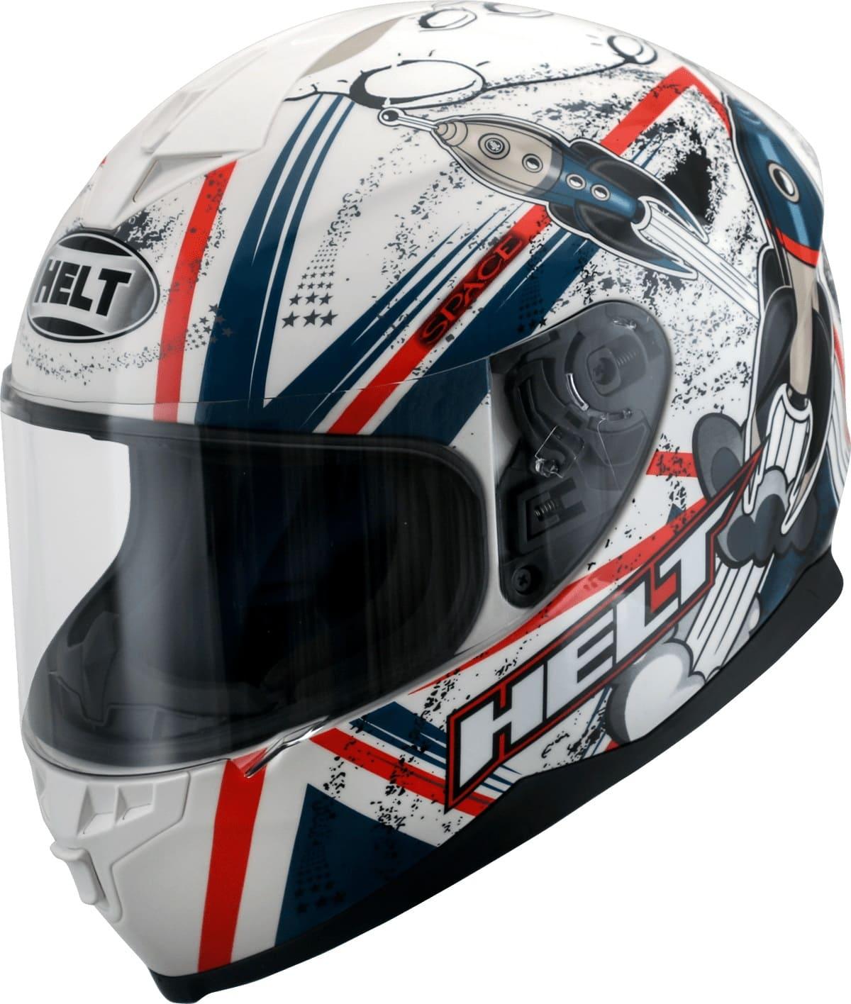 Capacete Helt 967 New Race Space  Vermelho/Branco