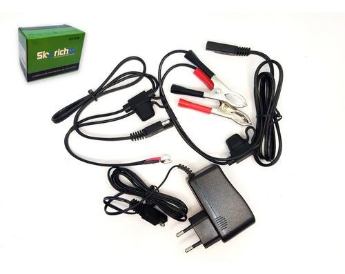 Carregador Bateria Ion Lítio Para Motos Universal Original Skyrich