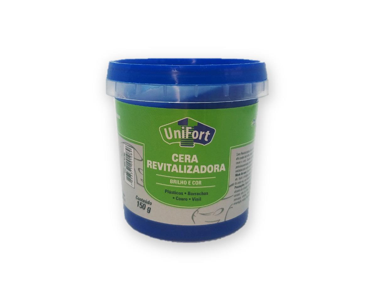 Cera Revitalizadora Para Peças Plásticas Externas / Borracha / Couro / Vinil 150g Unifort