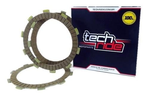 Disco De Embreagem Fazer / Lander / Tenere 250 6 Peças Tech Ride