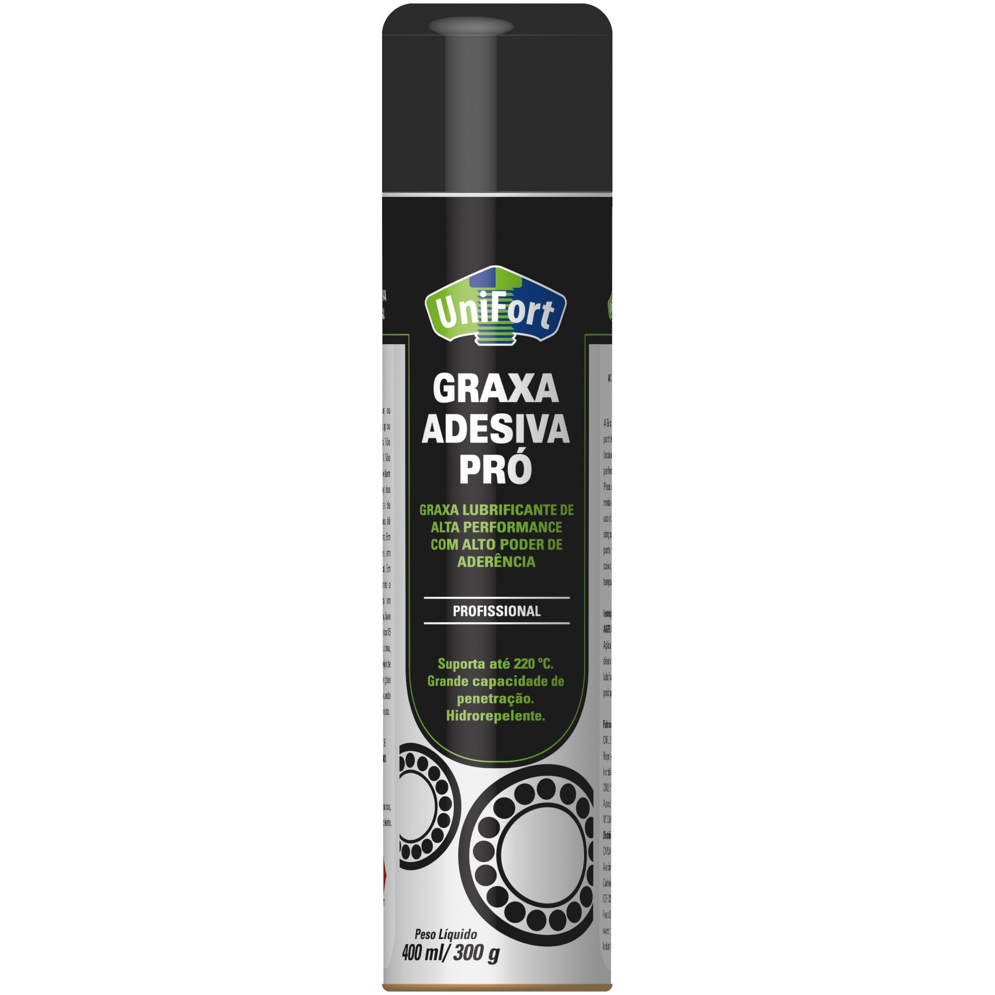 Graxa Spray Liquida P/ Corrente Profissional Aderente 300g 400ml Unifort