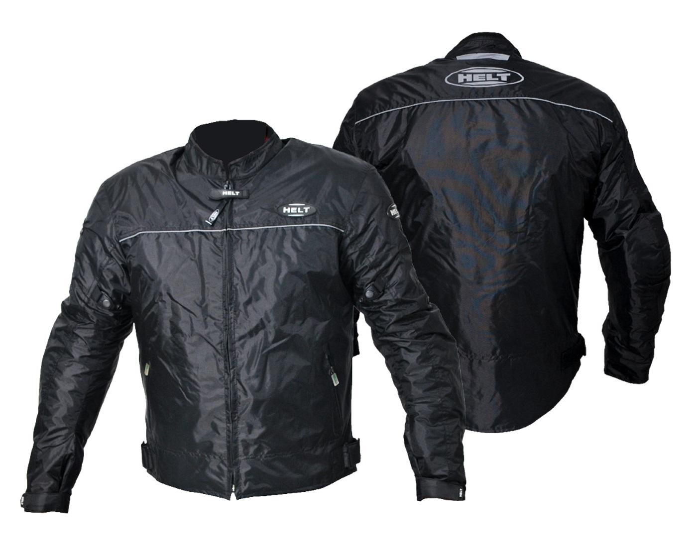 Jaqueta Masculina Helt Daytona Nylon Preta Resistente À Água C/ Proteções