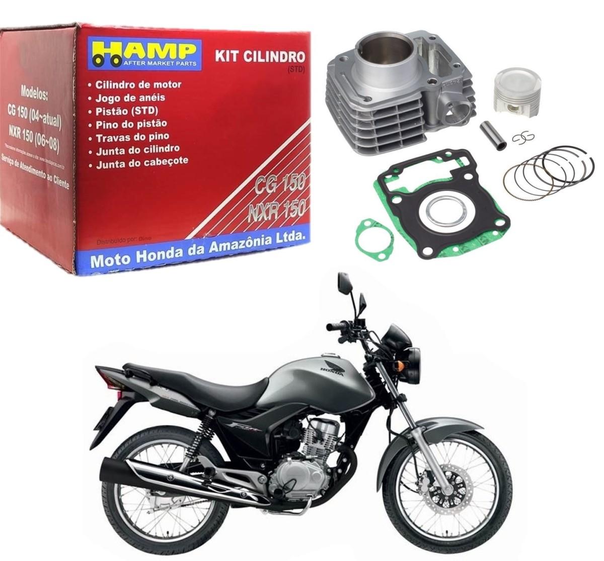 Kit Cilindro Motor CG 150 / Titan 150 / Fan 150 / Bros NXR 150 Stander HAMP
