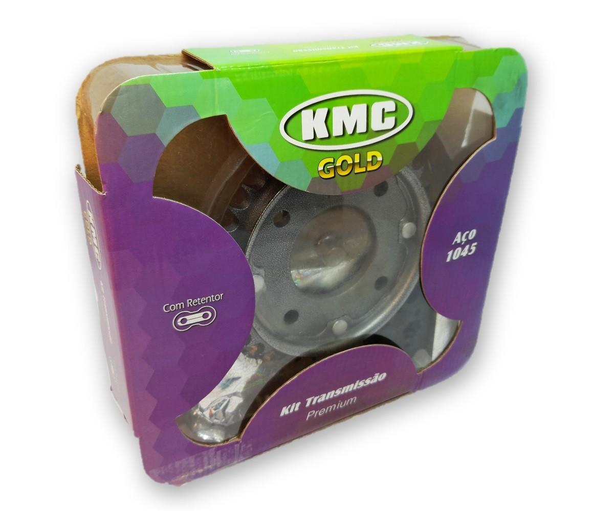 Kit Relação Biz 100 Com Retentor Aço 1045 KMC GOLD 428x108x35x15