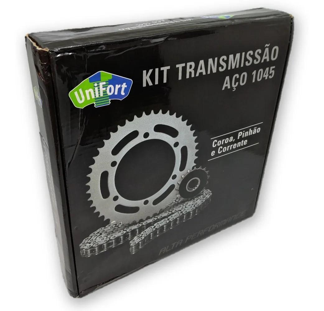 Kit Relação Bros 125 2003 a 2012 Aço 1045 Unifort 428x132x54x17