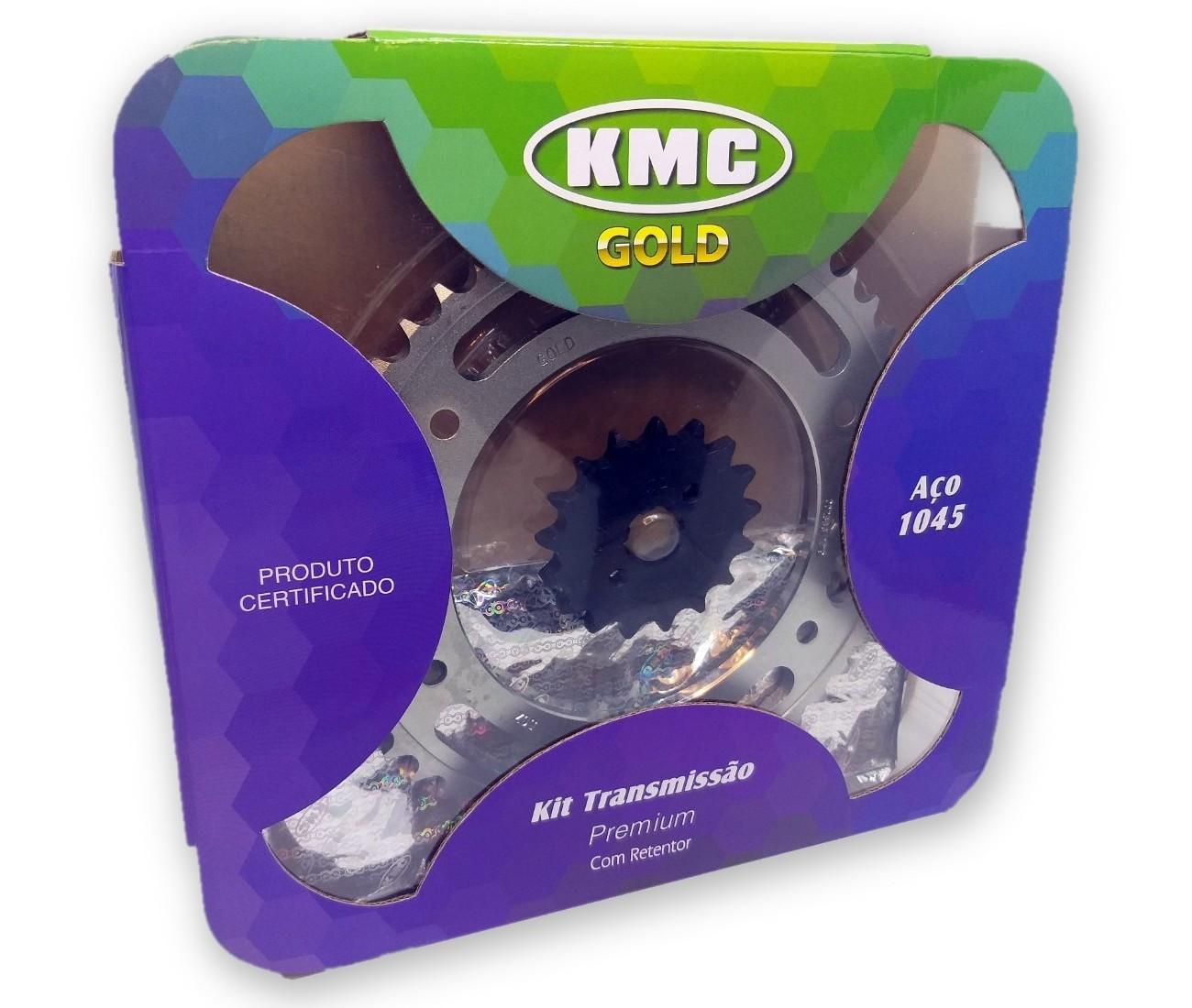 Kit Relação Bros 150 2003 a 2008 Com Retentor Aço 1045 KMC GOLD 428x130x50x17
