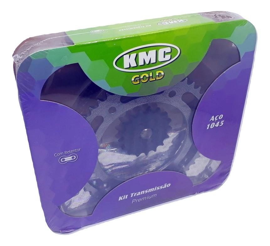 Kit Relação Bros 150 2009 Com Retentor Aço 1045 KMC GOLD 428x128x49x17