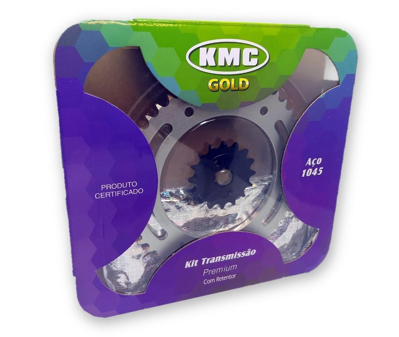 Kit Relação Bros 160 / XRE 190 Com Retentor Aço 1045 KMC GOLD 428x128x48x16