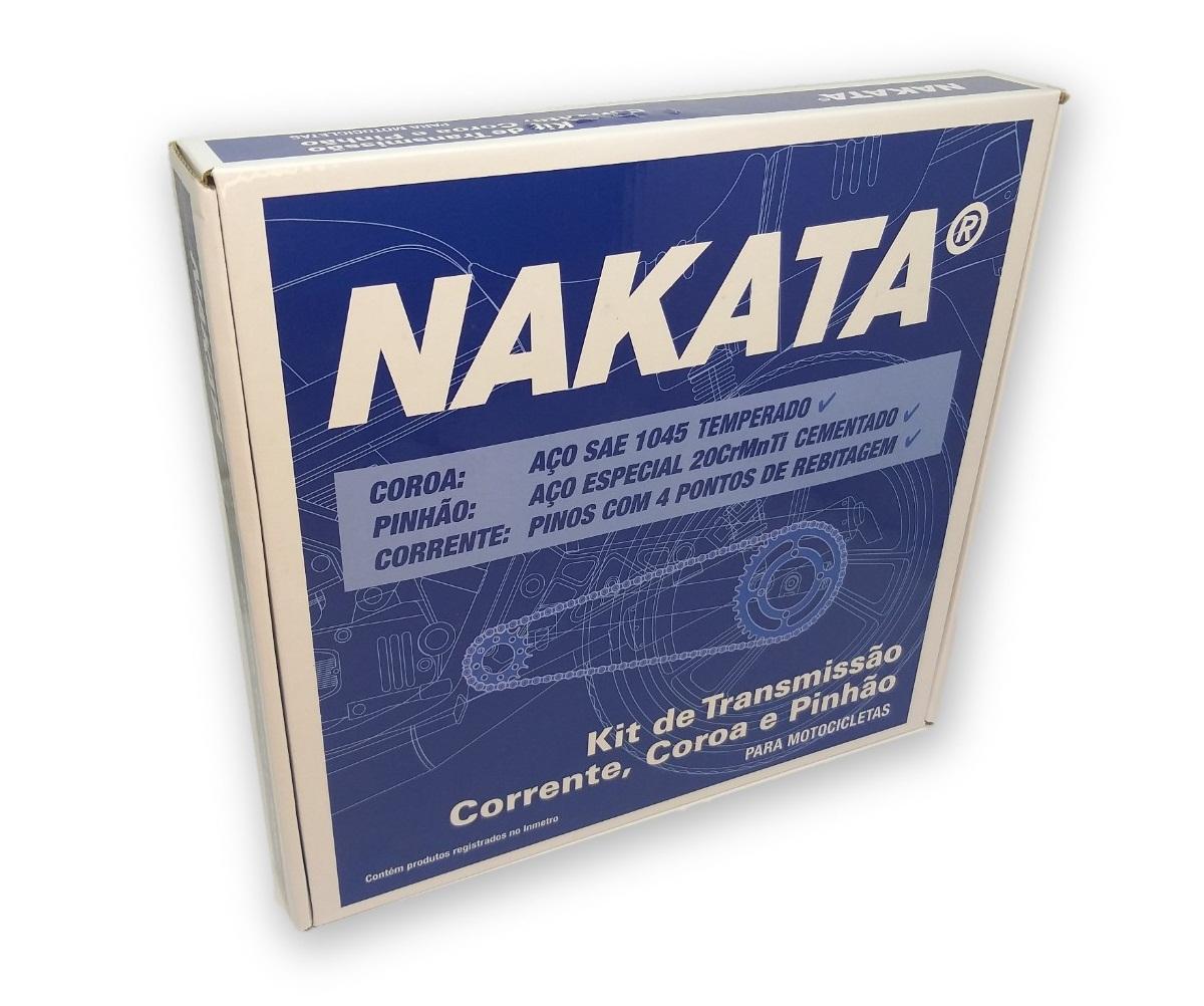 Kit Relação Bros 160 / XRE 190 Com Retentor Aço 1045 Nakata 428x128x48x16