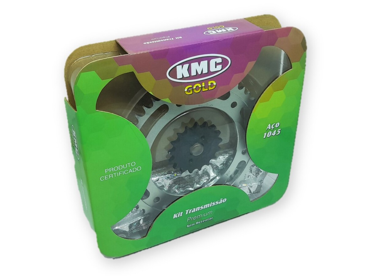 Kit Relação Bros NXR 150 2009 Aço 1045 KMC GOLD 428x128x49x17
