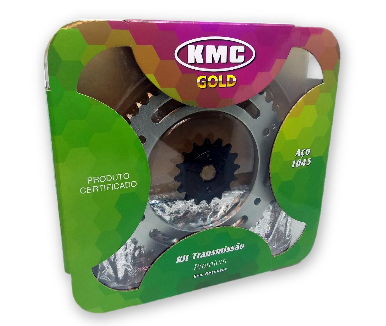 Kit Relação Bros 160 / XRE 190 1045 KMC GOLD 428x128x48x16