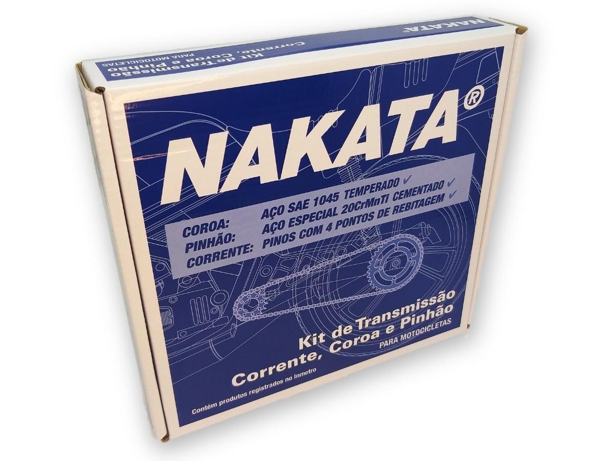 Kit Relação CB 300 Aço 1045 Nakata 520x110x37x13