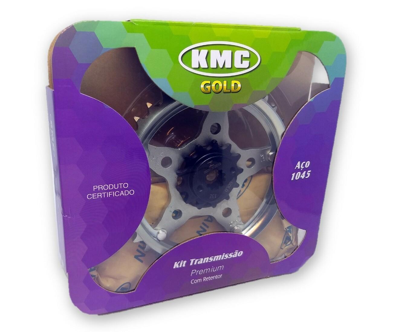 Kit Relação CB 300 Com Retentor Aço 1045 KMC GOLD 520x110x37x13