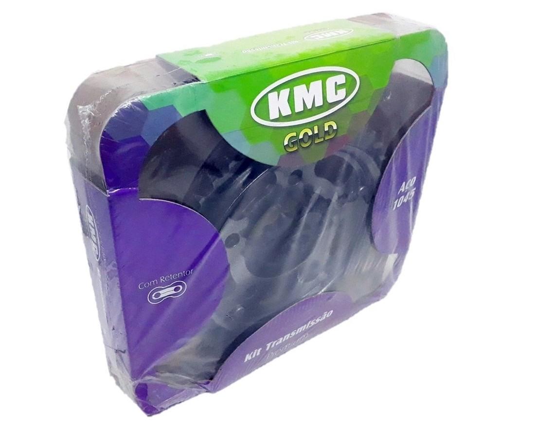 Kit Relação CB 500 Com Retentor Aço 1045 KMC GOLD 525x120x40x15